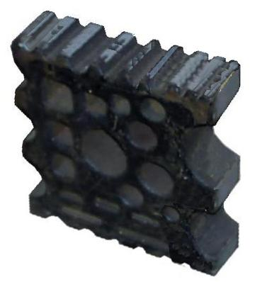 Industrial Swage Block painted black