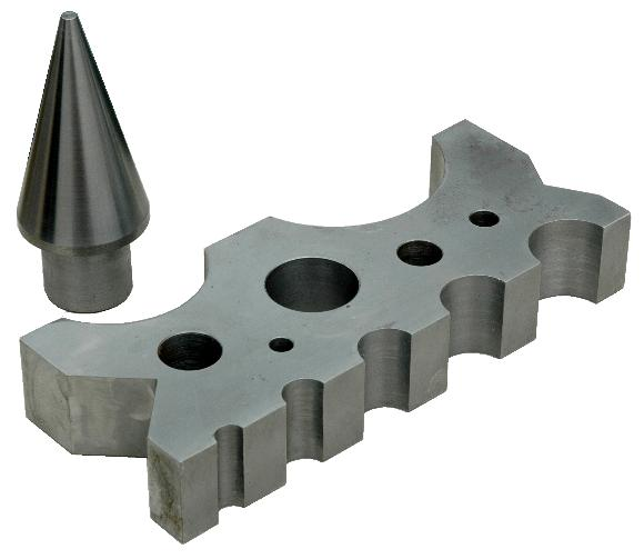 CNC Machined Swage Block and Cone